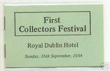 1984 DX48 1ST COLLECTORS DUBLIN FAIR EXHIBITION BOOKLET - SCARCE -