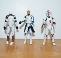 STAR WARS CLONE WARS CAPTAIN REX Action Figure & Clone Trooper Parts Lot