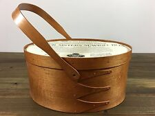 Sudberry House Large Oval Shaker Sewing Box Swing Handle for Needlework Display