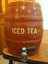 Antique Vintage Iced Tea Keg Jug Pitcher Dispenser