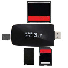 USB 3.0 All in1 Flash Memory Card Reader Adapter for Micro TF CF 、New