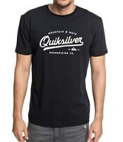 QUIKSILVER MENS T SHIRT.NEW LIVING ON THE EDGE BLACK COTTON TOP TEE 8W 99 KVJO