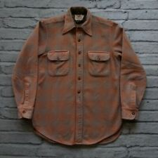 Vintage Levis DeLuxe Wool Plaid Shirt Size S XS Made in USA Western
