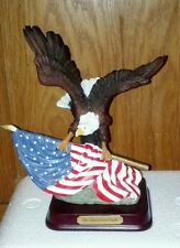 Herco Professional Gift Of The American Bald Eagle Clutching American Flag