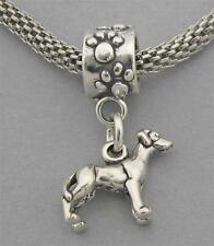 3D Great Dane Dog Sterling Silver European Dangle Bead Miniature Charm 3552