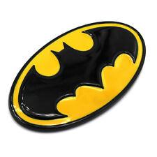 3D Batman Logo Gelb/Schwarz 9x5cm Emblem Badge mit Kleberückseite Aufkleber