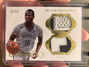 Isaiah Whitehead 2016-17 Flawless DUAL PATCHES Rookie #10/10 Brooklyn Nets SSP
