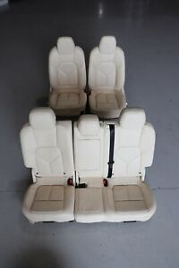 Porsche Cayenne Diesel 958 92A 2013 Leather Front Rear Seat Set J138