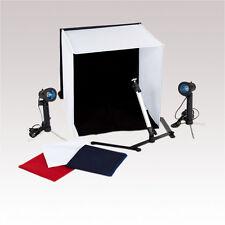 MEDIUM PORTABLE PHOTO STUDIO LIGHTING KIT TENT CUBE WITH TRIPOD LIGHTS CARRY BAG