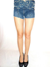 Freeman Porter Womens New Retro Sexy Jeans High Waist Casual Hot Pants sz S AG37