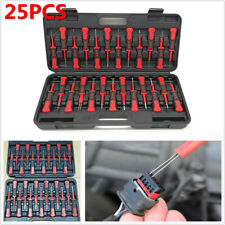 25PCS Car ATV Motorcycle Crimp Terminal Cable Connector Pin Puller Release Tool