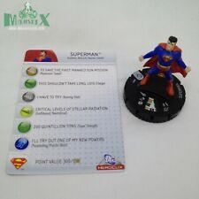 Heroclix Superman set Superman #001 Common figure w/card!