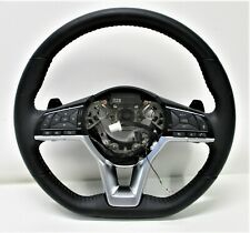 OEM 2019 NISSAN ALTIMA BLACK LEATHER STEERING WHEEL w SHIFT PADDLES 48430-6CB2A