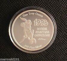 1996 BRAVE LITTLE TAILOR DISNEYANA CONVENTION .999 SILVER MEDALLION/COIN- LE
