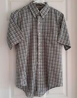 Men's S/S Plaid Dress Shirt-Neck Size 16(34/35)-by Arrow