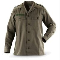 New Mens Shirt Military Field Army Combat Jacket BDU Coat Vintage Surplus