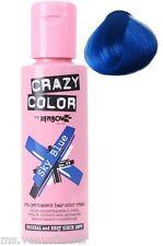 Crazy Color Semi Permanent Hair Colour Dye Cream by Renbow 100ml All Colours Sky Blue 59 Cc59