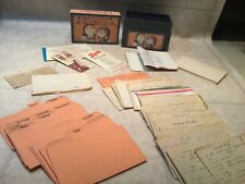 Vtg  Recipe Card Box ,Cards w Hand written recipes, blank cards,Dividers +