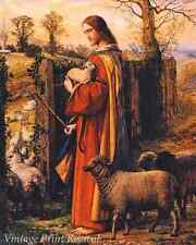 The Good Shepherd by William Dyce - Jesus Cares Lambs Sheep 8x10 Print 1176