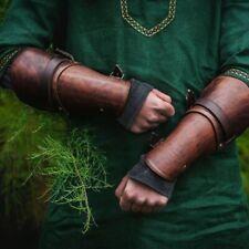 2x Arm Guard Bracers Faux Leather Forearm Guards Medieval Roman Vambraces