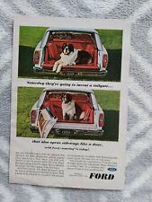 1966 Ford Wagon Magic Door USA Original Magazine Advertisement