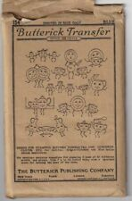 1920's Anthropomorphic Kitchen Towel Transfer  Butterick Pattern 154