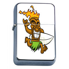 Tiki Statues D3 Windproof Dual Flame Torch Lighter Polynesian