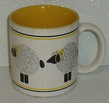 Dept 56 Mug Cup LE MOUTON Lamb Sheep Yellow Vtg 3.5""
