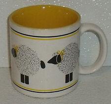 "Dept 56 Mug Cup Le Mouton Lamb Sheep Yellow Vtg 3.5"""