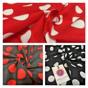 "Polka Dot Spot 100% Cotton Fabric 58"" sold by Metre Mtex M144"