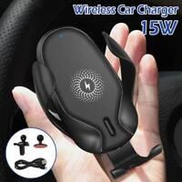 UK 15W Fast Qi Chargeur voiture sans fil Support voiture à gravité Pr iPhone D1