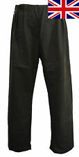 British UK Regents View Mens Ladies Unisex Olive Brown 100% Wax Cotton Trousers