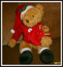 "Sammy Santa Teddy Bear 13"" Plush Stuffed Animal Russ Berrie New"