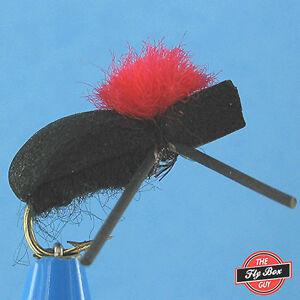 Foam Black Beetle Indicator Premium Dry Flies - One Dozen - Sizes Available***
