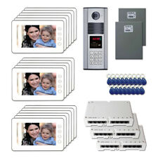 """Home Access Door Security Video Intercom System Kit with (17) 7"""" Color Monitors"""