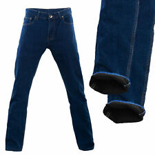 Jeans uomo felpato pantaloni felpati pile foderati regular fit caldi H001