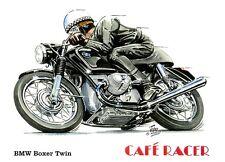 BMW R50 / 5 500cc TWIN 1970 café racer moto moto Vide Carte D'Anniversaire