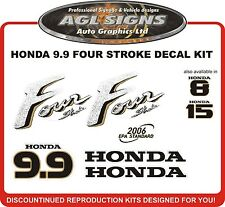 HONDA 9.9 HP Four Stroke Reproduction Decal Set   outboard stickers 8 hp 15 hp