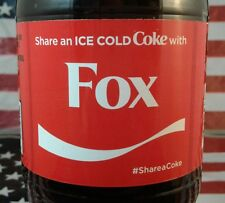 Share A Coke With Fox Limited Edition Coca Cola Bottle 2017 USA