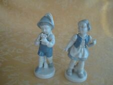 SET OF 2 VINTAGE GEROLD PORZELLAN LITTLE BOY & GIRL FIGURINES WESTERN GERMANY
