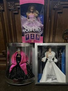 3 Barbies 1989,98,2003 New And Vintage