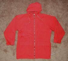 SHED RAIN Pouchables Bright Red Nylon RAIN JACKET Windbreaker Coat Sz Men Small