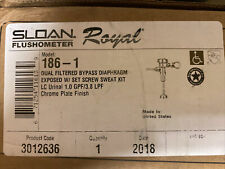 Sloan ROYAL 186-1, Exposed, Low consumption(1.0 gpf/3.8 lpf)Urinal Flush NISB FS