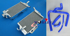 For HONDA CR250 CR250R 05 06 07 2005 2006 2007 Aluminum Radiator and hose