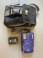 Nikon Coolpix S6300 16MP HD 1080p Camera 10x blue W/ Battery & Case (No Charger)