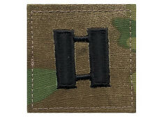 US Army MultiCam Rank O-3 Captain Rank Patch hook backing