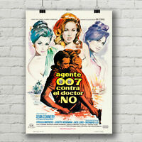 "James Bond Sean Connery 12/"" X 18/"" Movie Poster Print Bar Man Cave Whiskey Glass"