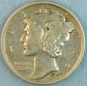 CIRCULATED 1942 S Silver Mercury Dime 90% Silver Fast Shipping 453