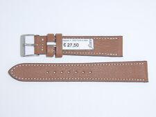 FLUCO Genuine Vintage Leather Watch Band Strap 18 mm Brown Cognac Montana-Ziege