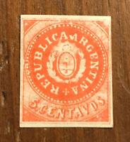 ARGENTINA STAMP #5  1864   UNUSED H OG I Combine Shipping